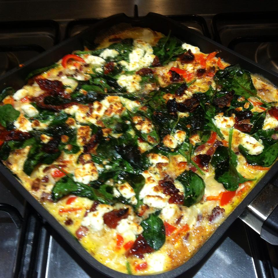 Today's Clean Eat - Feta, Bacon, Spinach and Sun dried Tomato Frittata ...